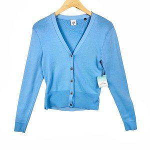 NWT CAbi Cut Out Cardigan Light Blue Women's Med